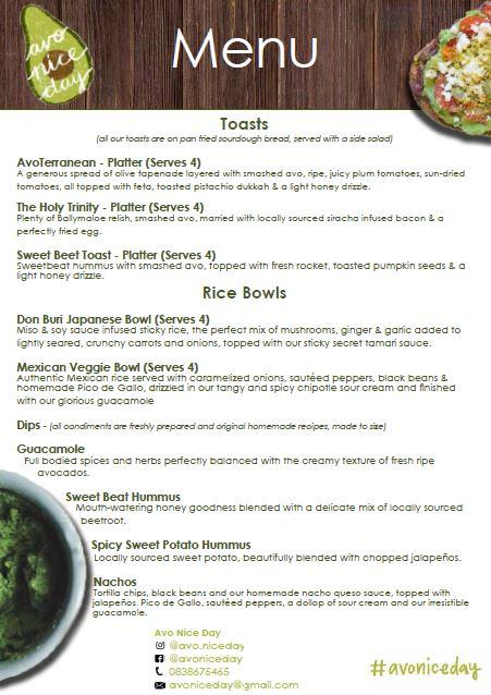 menu avo